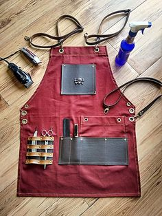 Professional Barber and Salon Accessories Barber Accessories, Style Salon, Barber Apron, Barbershop Design, Barbershop Ideas, Barber Shop Decor, Shop Apron, Work Aprons, Leather Apron