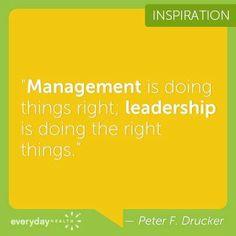 Management vs. Leadership #calsae #bealeader #betterleadership #leadbyexample #selfimprovement