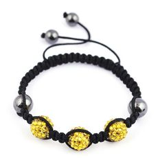 45mm Bright Yellow Shining Resin Crystal Disco Ball Bracelet Fashion Charms