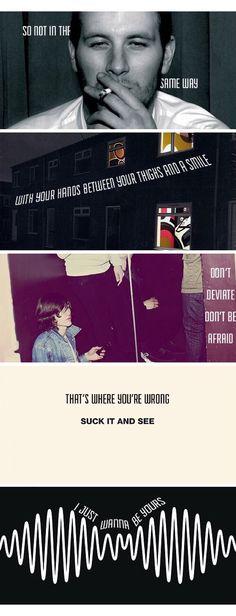 Last lines of every Arctic Monkeys Album
