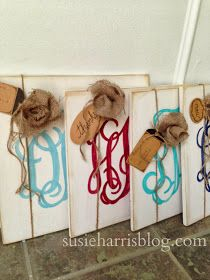 Susie Harris: Custom Monogram Signs