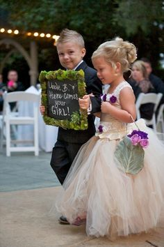 Had to share the cutest ring bearer and flower girl ever!
