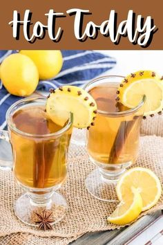 Make a quick and easy, soothing drink with this Hot Toddy recipe from Tornadough Alli. This easy recipe has delicious flavors and is spiked with whiskey. A hot toddy makes a great drink for a night cap or just to warm up on a cold night!
