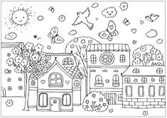 spring_30 Spring coloring pages for adults and teenagers