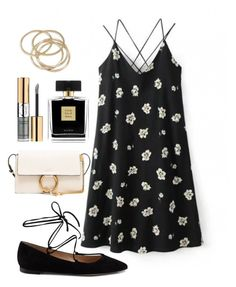 """""""Date night"""" by bashful-beauty ❤ liked on Polyvore featuring Chloé, Yves Saint Laurent, Avon, Gianvito Rossi and ABS by Allen Schwartz"""