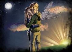 SG epic kiss by Lizalot.deviantart.com on @deviantART  Q: WHY ARE PUCKS WINGS NOT PINK?!?! A: because the author specifies in the books that his wings are pink streaked.