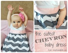 chevron baby dress (when I have a girl)