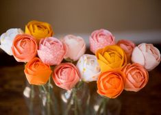 These bright and cheery fabric roses are just as lovely as the real thing but last much longer.