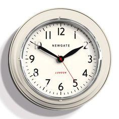 Newgate Mini Cookhouse Wall Clock - Linen White - kitchen clock