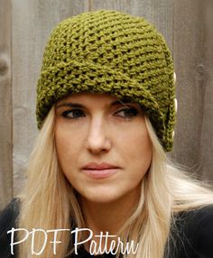 This is a listing for The PATTERN ONLY for The Paiyton Cloche  This hat is handcrafted and designed with comfort and warmth in mind... Perfect for