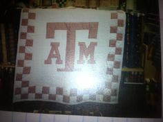 My Texas A&M baby quilt  Myke