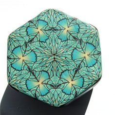 Turquoise kaleidoscope cane by ToniNZ.