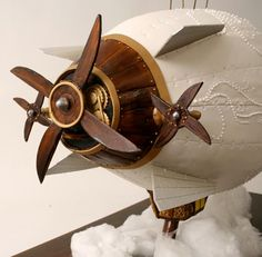 Geek Art Gallery: Sweets: Steampunk Airship Cake