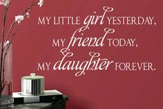 Vinyl Wall Lettering Daughter Forever Inspirational Quote