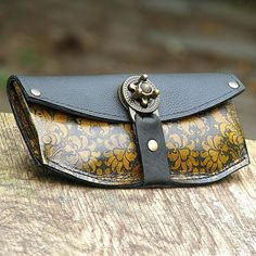 Women's Leather Zipper Wallet  Baroque by sewlutionsbyamo on Etsy, $105.00