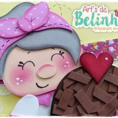 É amor que fala néh?!?! Apaixonando-se em 3,2,1  Cozinheirinha do minicurso 21 Bora fazer fofurices!!! 💕✂️🍰 Parceiros: @ludyrangelsz @emporioeva @tekbondartesanato @artsdabelinha - loja2 . . . Informações 14 99814-5915  minicursoartsdabelinha@gmail.com Class Door Decorations, Candyland, Handicraft, Fairy Tales, Crafts For Kids, Lily, Clip Art, Valentines, Scrapbook