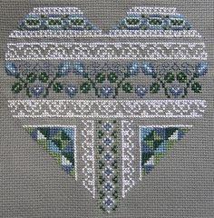 Beautiful cross-stitched heart