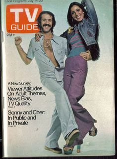 1973 TV Guide - SONNY  and  CHER- cover / July 14 - 20