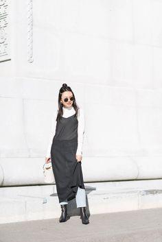 Sheer black slip dress