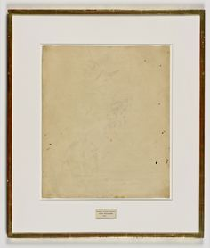 Uitgewiste tekening van Willem de Kooning ~ 1953 ~ Sporen van inkt en krijt op papier ~ Nasjonaalmuseet, Stockholm