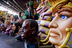 Some of the styrofoam props that go on Mardi Gras floats