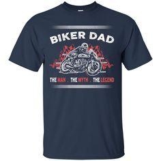 Father's Day Biker T-shirts Biker Dad The Man The Myth The Legend Shirts Hoodies Sweatshirts