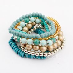 $4.42 Fashion Vivid Women's Muulti-Layered Bead Bracelet