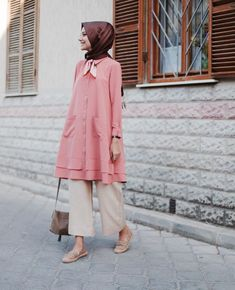 Stunning Button Front Tunic Outfit Ideas for Hijabies – Girls Hijab Style & Hijab Fashion Ideas sporty outfits Hijab Casual, Hijab Chic, Muslim Fashion, Modest Fashion, Hijab Fashion, Fashion Pants, Fashion Outfits, Modest Dresses, Modest Outfits