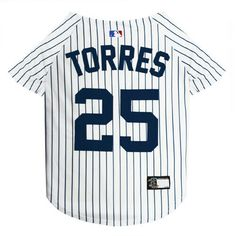 dcce932f5f2 GLEYBER TORRES  25 Yankees MLBPA Officially Licensed Pinstripe Dog Jersey   PetsFirst