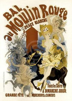 Image result for moulin rouge poster 1900