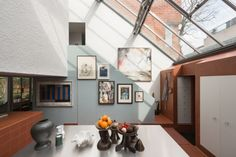 A mews house, which was an early project by two of the world's leading architects, has come on the market on what is arguably the most impressive street in Camden for Modern architecture. Mews House, Modern Architecture, Gallery Wall, Houses, Windows, Home Decor, Homes, Decoration Home, Room Decor