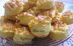 Tejfölös pogácsa recept fotóval Gourmet Recipes, Cake Recipes, Hungarian Recipes, Hungarian Food, Potato Salad, Cauliflower, Bakery, Muffin, Goodies