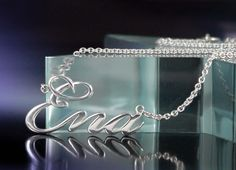 Custom Made Custom Sterling Silver Name Necklace by Lauren Grace Jewelry