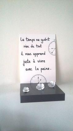 """affiche citation """" le temps ne guérit rien du tout... """" : Affiches, illustrations, posters par stefebricole"""