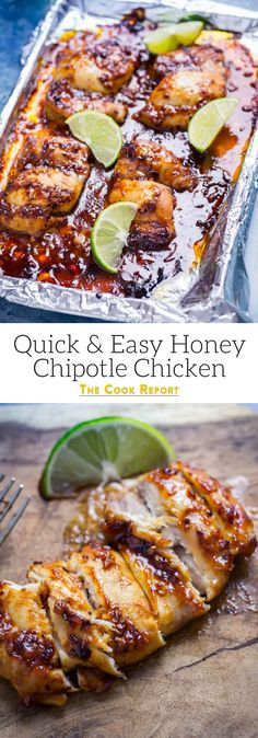 This honey chipotle chicken is the perfect combination of sweet and spicy. It's so easy to make and is super versatile, serve it in wraps, sandwiches or with salad.the possibilities are endless! Yum Yum Chicken, Baked Chicken, Cooking Recipes, Healthy Recipes, Smoker Recipes, Rib Recipes, Dinner Recipes, Simple Recipes, Quick Recipes