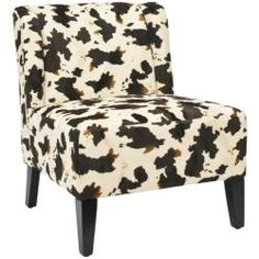 @Overstock - The cow hide print chair is an instant classic. This chair features a ivory and brown polyester upholstery with an extra thick cushioning for added comfort.http://www.overstock.com/Home-Garden/Cow-Hide-Print-Lounge-Chair/6002279/product.html?CID=214117 $181.79