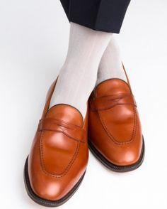 Dapper Classics Light Grey Ribbed Mid-Calf Linked Toe Sock