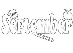 September Coloring Pages To Print, Preschool, Kindergarten, Free Printables Kindergarten Coloring Pages, School Coloring Pages, Coloring Pages To Print, Colouring Pages, Adult Coloring Pages, Free Coloring, Preschool Kindergarten, Fall Leaves Coloring Pages, September Colors