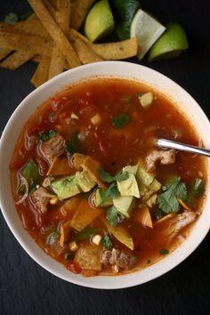 Spring Chicken Tortilla Soup