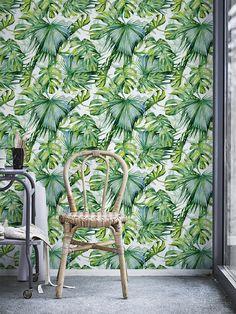Monstera leaf pattern Wallpaper, Removable Wallpaper, Self-adhesive DIY Wallpaper, Wall Décor, Greenery - JW135