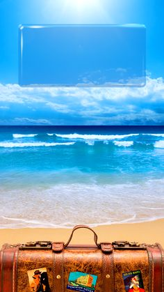 ↑↑TAP AND GET THE FREE APP! Lockscreens Art Creative Sea Sky Water Summer Vacation Beach Lights Blue HD iPhone 6 Plus Lock Screen