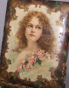 Large Antique Victorian Photo Album Woman Portrait Front