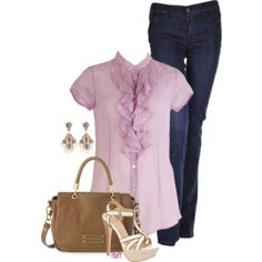 Nice minus the high heels. A pair of flats would go better with the outfit