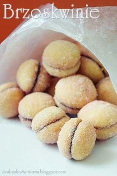Arabeska: Ciastka Biscuits, Deserts, Thanksgiving, Peach, Sweets, Bread, Cookies, Baking, Fruit