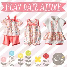 Soft and breezy cotton styles make the Kittens and Cupcakes collection the perfect play date attire! 100% cotton and available exclusively from Hallmark Baby.