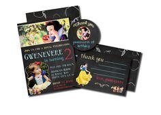 Snow White birthday invitation setDisney's by PrintablesToYou
