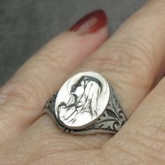 Blessed Mother Virgin Mary Antique French Silver by 12StarsVintage …