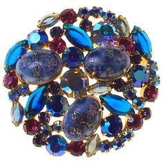 Vintage 1960s Delizza & Elster Juliana Diamante Brooch
