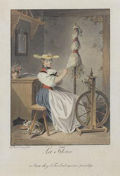 La Fileuse, by 1801, Sigmund Freudenberger (1745–1801)