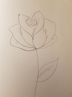 #art #rose #flower #leaf #stem #plant #pencil #drawings #doodle #easy #simple Leaf Drawing, Plant Drawing, Drawing S, Painting & Drawing, Easy Drawings, Pencil Drawings, Flower Line Drawings, Simple Rose, Rose Leaves